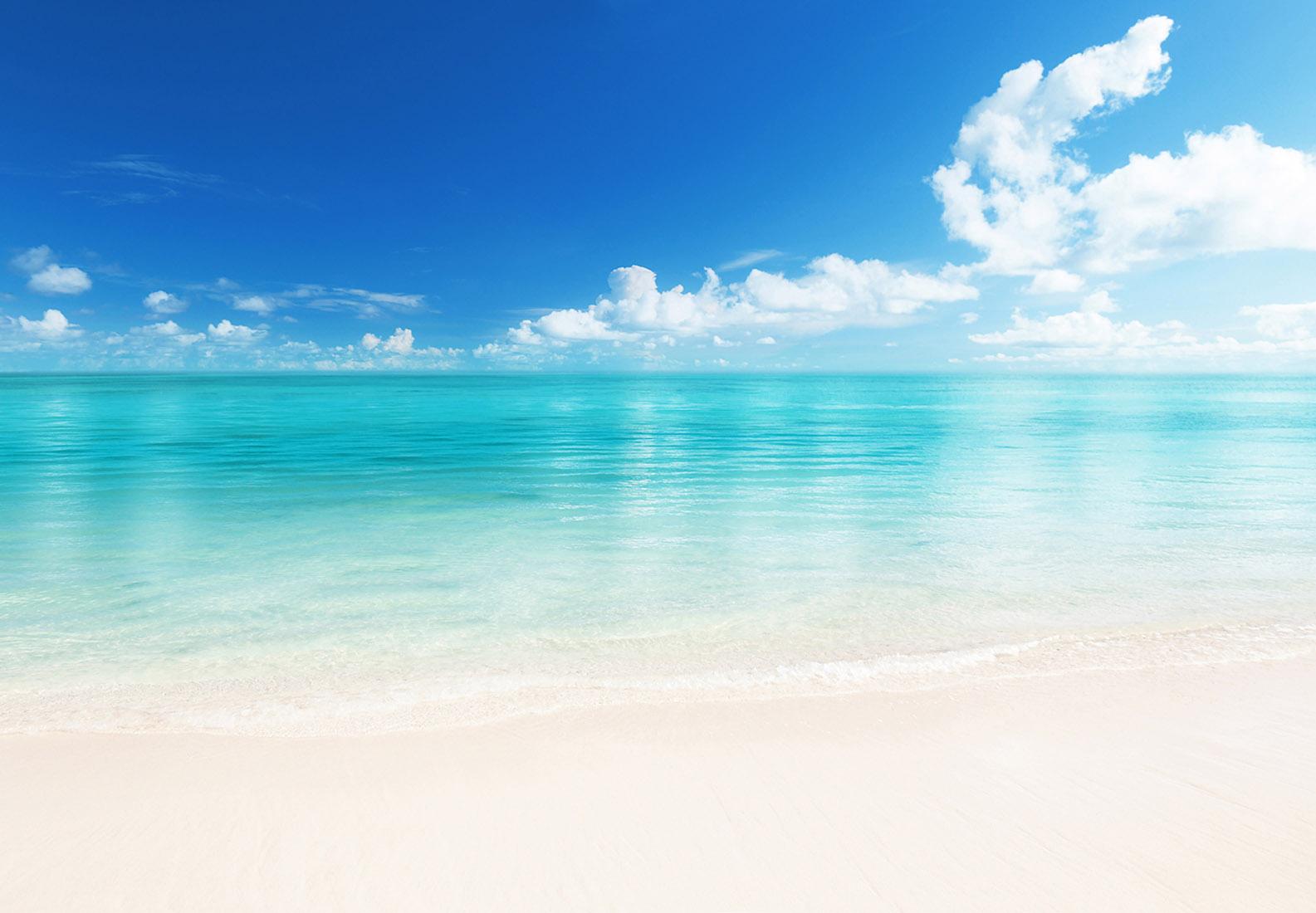fototapete beach 366x254 wei er sand strand blaues wasser ozean karibik wolken ebay. Black Bedroom Furniture Sets. Home Design Ideas