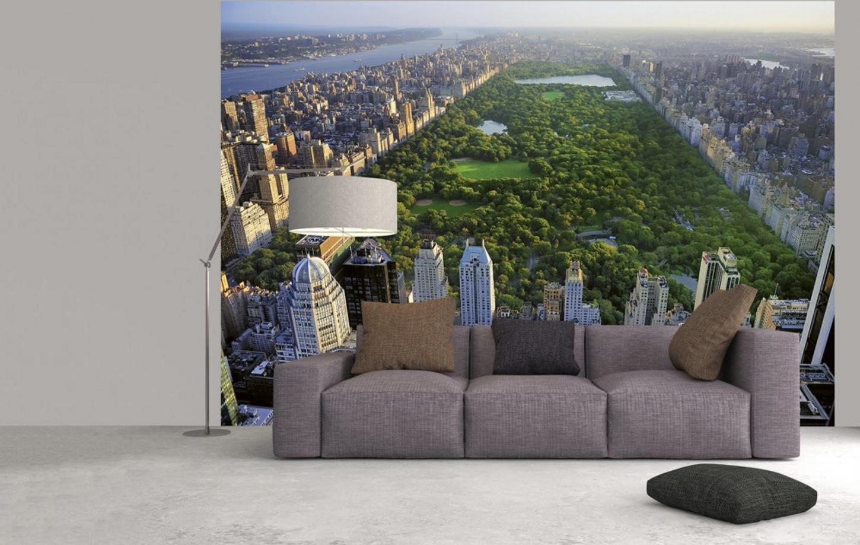 fototapete central park 366x254 aussicht ber nyc manhattan penthouse ausblick ebay. Black Bedroom Furniture Sets. Home Design Ideas