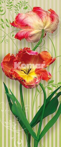 SWING, rot-orange Tulpen schwingen in den Raum - bei Klick zurück zur Motivübersicht