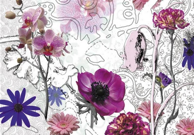 violet Flowers, violette Blumen - bei Klick zurück zur Motivübersicht