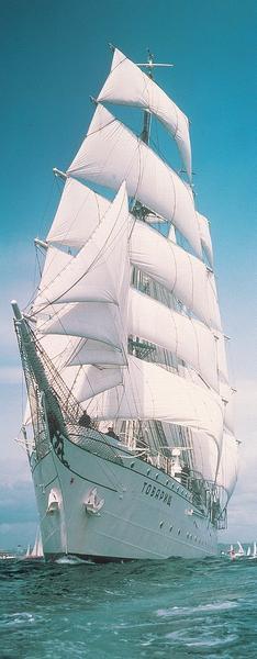Grosssegler, mehrmastiges Segelschiff - bei Klick zurück zur Motivübersicht