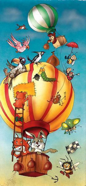 Tierballon, die Reise der Tiere - bei Klick zurück zur Motivübersicht