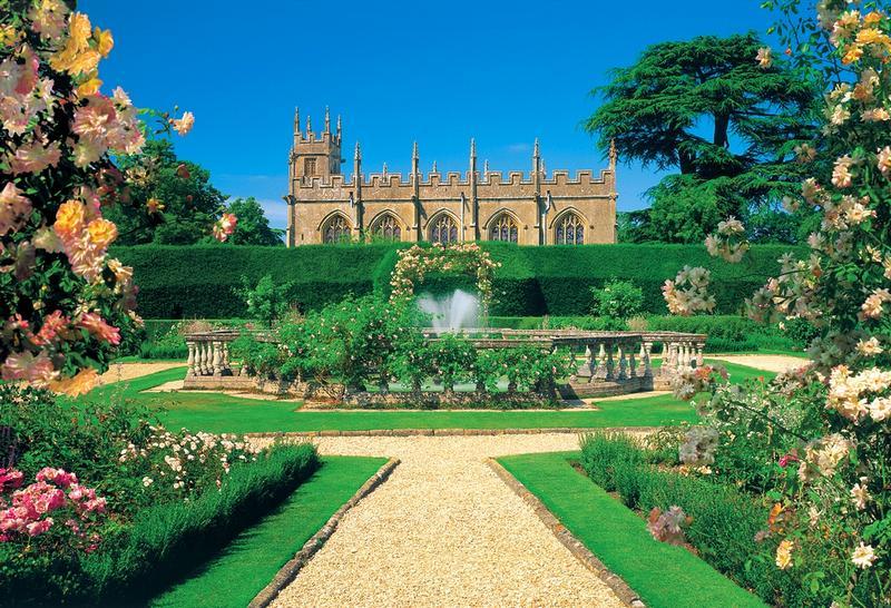 Fototapete Englischer Garten - Mit Blick Aufs Anwesen Und