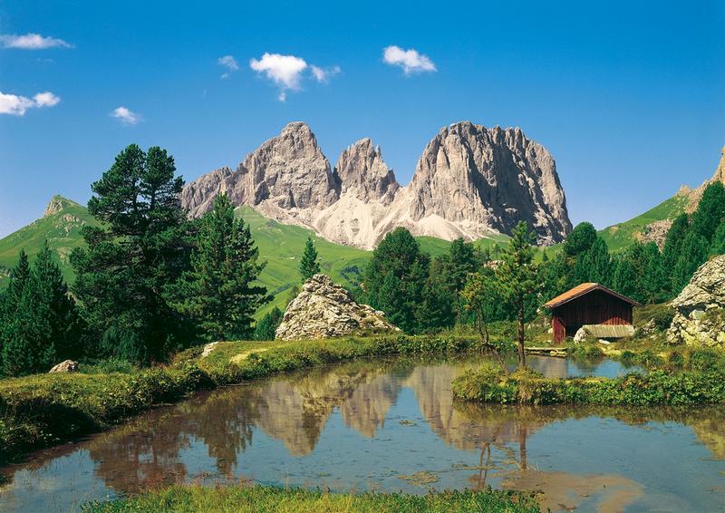 Dolomiten, kleines Tal - bei Klick zurück zur Motivübersicht