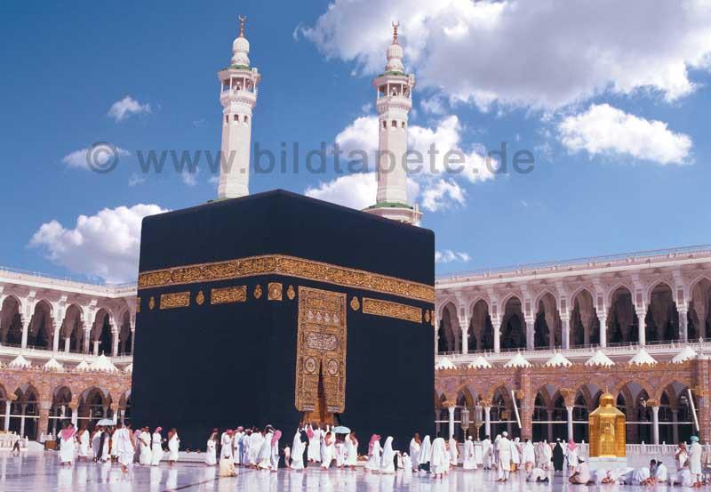 Kaba, Innenhof Mekka - bei Klick zurück zur Motivübersicht