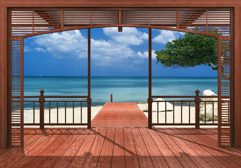 Fototapete blick aufs meer  Fototapete Barbados - mit traumhaften Blick auf die Karibik, KiSS ...