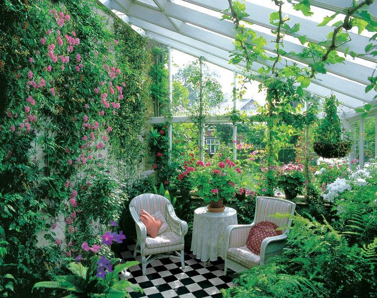 fototapete wintergarten eine gr ne oase der entspannung. Black Bedroom Furniture Sets. Home Design Ideas