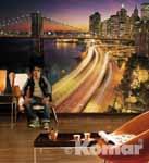 NYC LIGHTS - nächtliches New York im Wohnbereich, bei Klick vergrößerte Darstellung