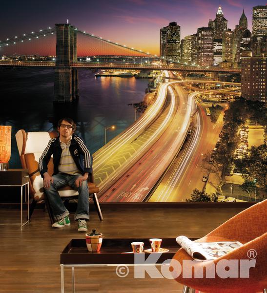 NYC LIGHTS, Brooklyn Bridge im Wohnbereich - bei Klick zurück zum Motiv