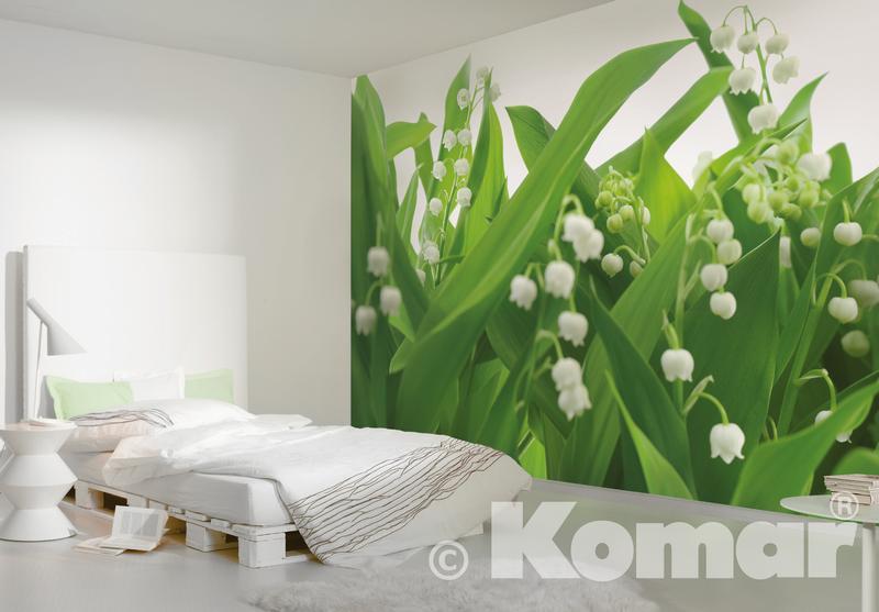 LILIES OF THE VALLEY, Maiglöckchen im Schlafzimmer - bei Klick zurück zum Motiv