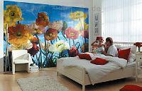 Mohnblumen im Schlafbereich - bei Klick vergrößerte Darstellung