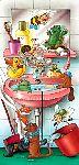 Kindertapete Cartoon Badespass - bei Klick Artikelbeschreibung