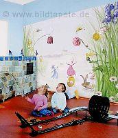 Elfenwiese im Kinderzimmer - bei Klick vergrößerte Darstellung
