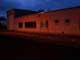 LED Pflastersteine leuchten in der Nacht